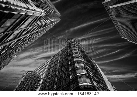 Views Of Canary Wharf Architecture London uk