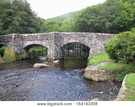 Stone bridge over a river in the English country side