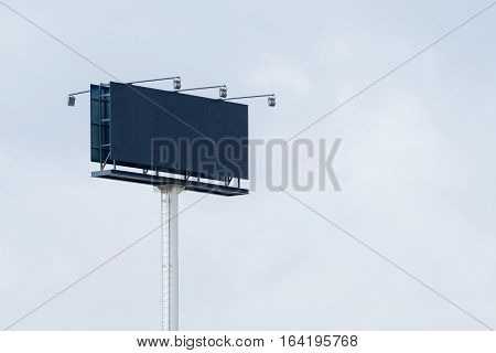 Hoarding billboard without information with direct lighting
