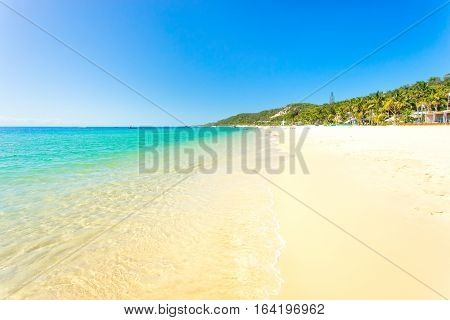 A clear day at Tangalooma island resort on Moreton Island