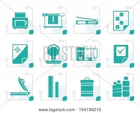 Stylized Print industry Icons - Vector icon set 2