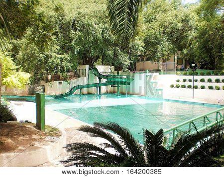 balneario o parque recreativo de la ciudad de sabinas hgo nl en mexico