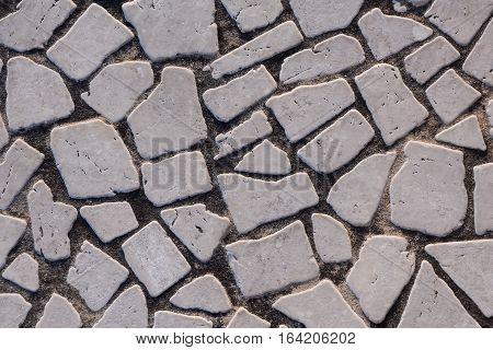Texture Of The Stone Floor