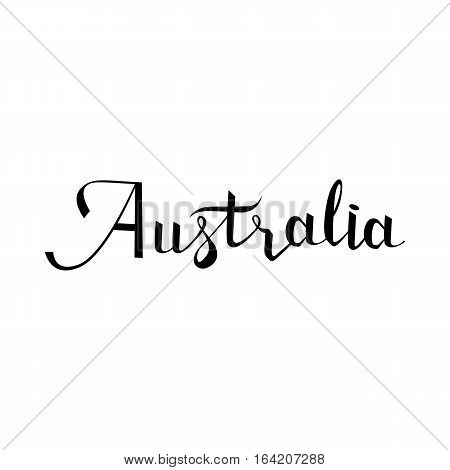 Australia lettering and calligraphy, icon, emblem typographic design