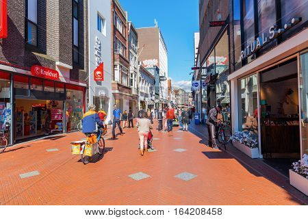 Shopping Street In Eindhoven, Netherlands