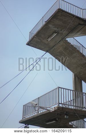 vertical overpass with sky , background abstract