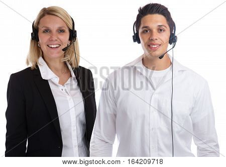 Call Center Agent Team Headset Telephone Phone Secretary Business Isolated