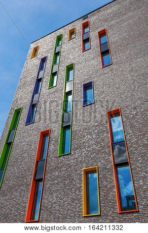 Modern Residential Building In Eindhoven, Netherlands. With About 225,000 Inhabitants Its The 5Th-la