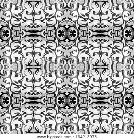 Kaleidoscopic abstract tribal seamless pattern. Modern stylish texture. Repeating geometric tiles. Textile fabric print. Wrapping paper. Abstract continuous ornament for design and fashion.