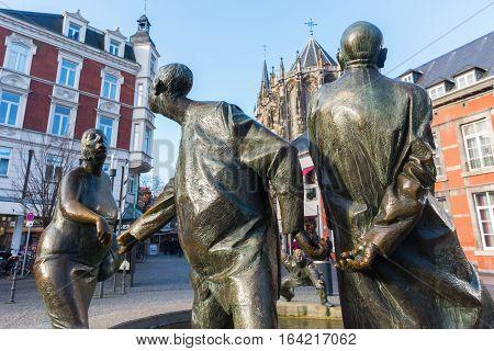 Bronze Statue In Aachen, Germany