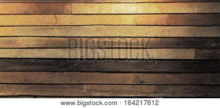Vintage planked wood background texture with lights and free text space (Pencil color painting)