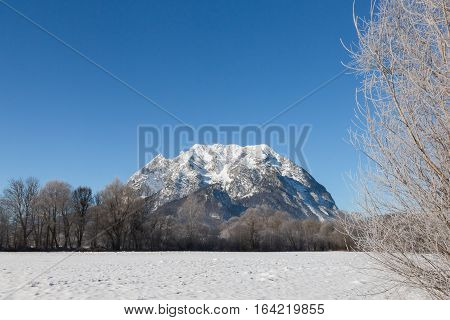 Tthe Grimming mountain in the Ennstal Austrian Alps.