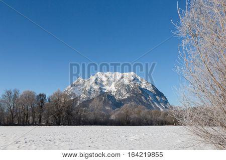 Tthe Grimming mountain in the Ennstal Austrian Alps.