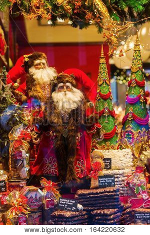 Christmas Decorated Window Display In Aachen, Germany