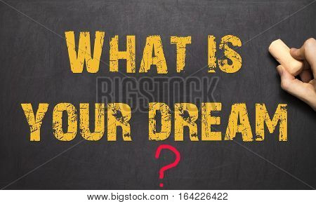 Human Hand Writing What Is Your Dream