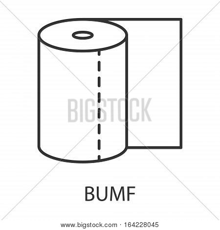 Toilet paper icon or logo line art style. Vector Illustration.