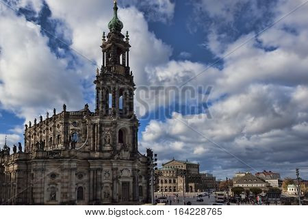 The Old Part Of Dresden Is Always Full Of Tourists