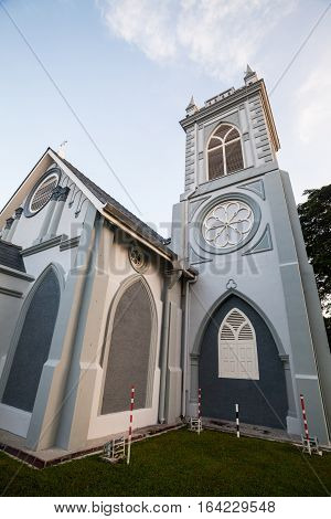 Georgetown, Penang - November 19, 2016 : Penang Wesley Methodist Church is one of the oldest churches in the country.  It has been around for more than a century which possibly dates back to 1891.