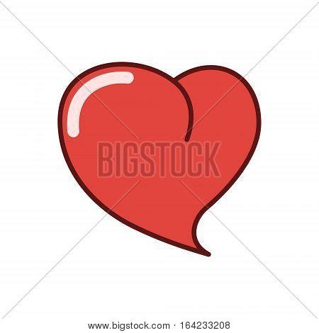 Human heart icon sticker vector illustration isolated