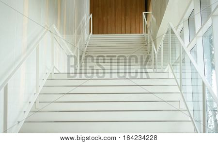 white stair vertical line , up to second floor