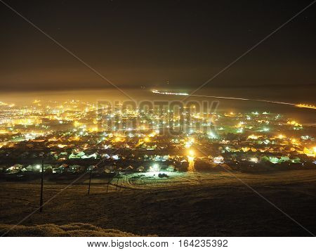 The city of Sim, view from the top of neighboring mountain