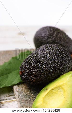 Green ripe avocado from organic avocado plantation - healthy food