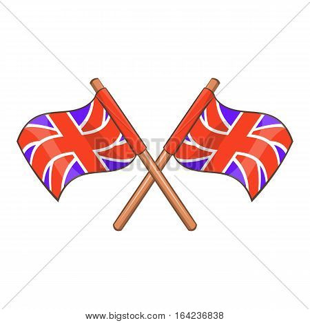 Great Britain flag icon. Cartoon illustration of Great Britain flag vector icon for web design
