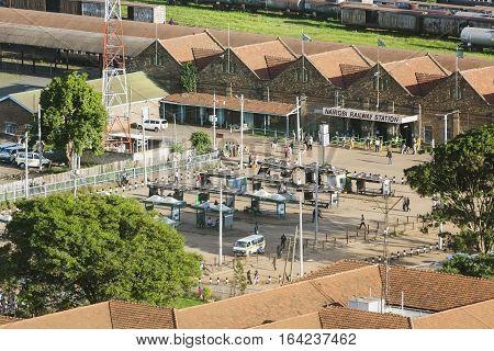 Nairobi Railway Station, Kenya, Editorial