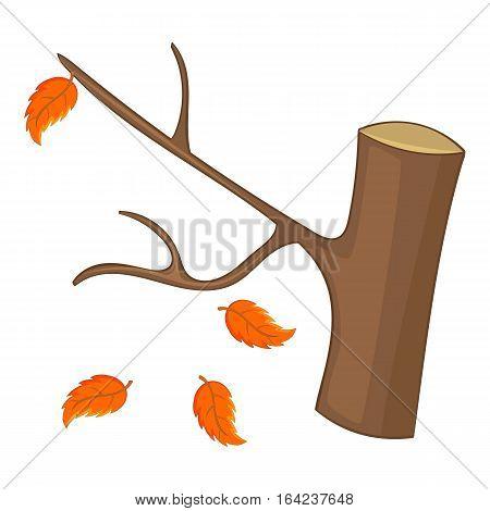 Autumn tree icon. Cartoon illustration of autumn tree vector icon for web design