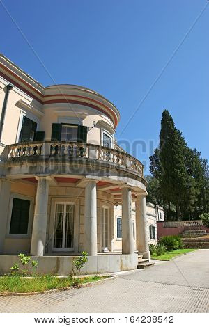 Mon Repo, the palace at Corfu Greece.