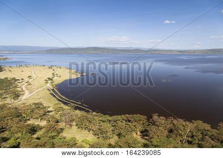Nakuru National Park Landscape, Kenya