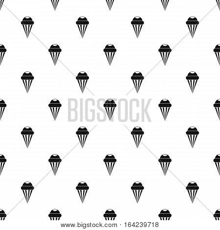 Ice cream cone with frosting pattern. Simple illustration of ice cream cone with frosting vector pattern for web