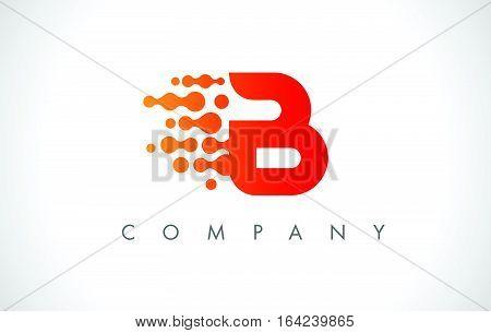 B Logo.B Letter Icon Design Vector Illustration.
