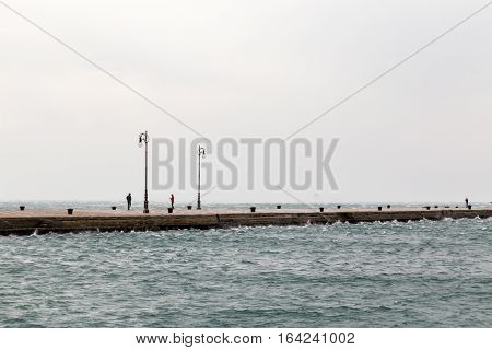 Windy Afternoon On The Pier