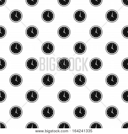 Wall mounted round mechanical watch pattern. Simple illustration of wall mounted round mechanical watch vector pattern for web