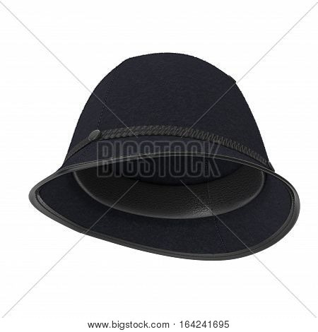 UK Bobby Pith Helmet on white background. 3D illustration