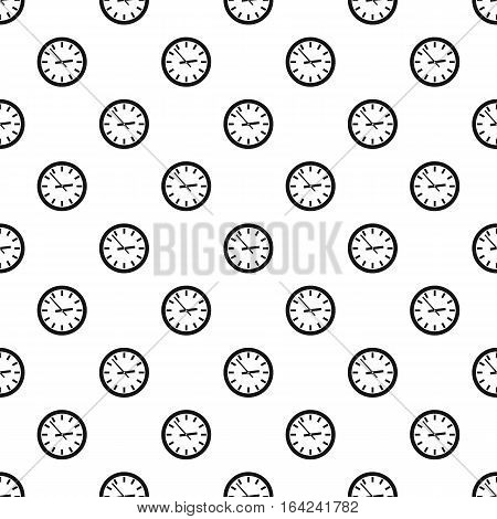 Wall clock pattern. Simple illustration of wall clock vector pattern for web