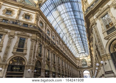 Vittorio Emanuele Ii Gallery - Is An Historic Shopping Arcade Situated In The Center Of Milan