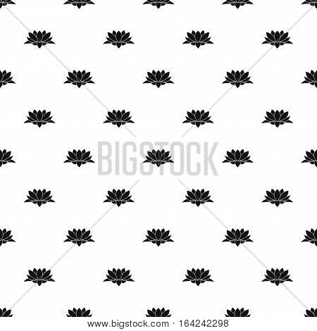 Lotus flower pattern. Simple illustration of lotus flower vector pattern for web