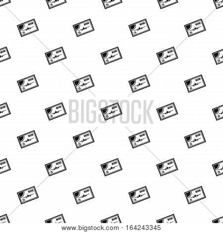 Air ticket to Miami pattern. Simple illustration of air ticket to Miami vector pattern for web