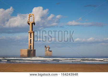 Old Construction Marina Of Sidi Ifni
