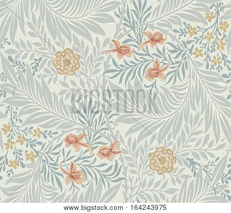 Modern fabric design pattern. Floral pattern for your design. Vector  illustration. Modern seamless pattern for interior decoration, wrapping paper, graphic design and textile. Background.