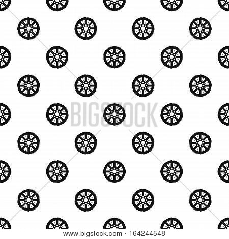 Sprocket for bicycle pattern. Simple illustration of sprocket for bicycle vector pattern for web