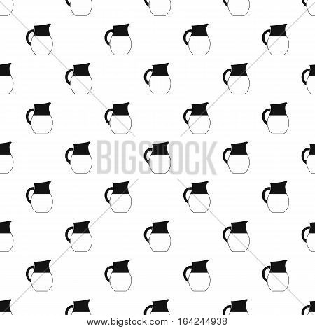 Jug of milk pattern. Simple illustration of jug of milk vector pattern for web