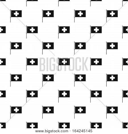 Flag of Switzerland pattern. Simple illustration of flag of Switzerland vector pattern for web