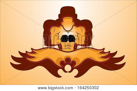 Mixed Martial Arts Fighter Icon Vector Illustration