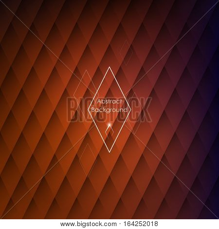 Abstract rhombic orange background for your designs. Elegant geometric wallpaper.