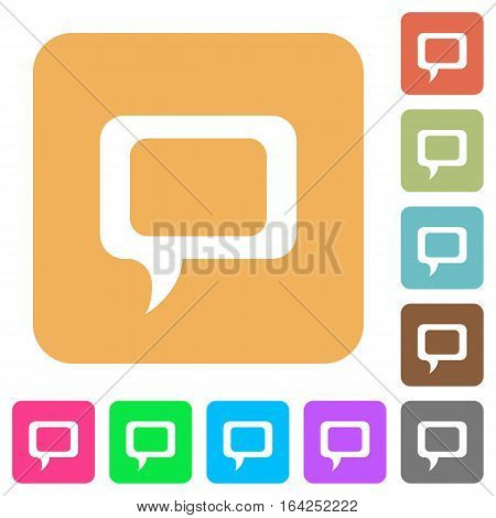 Comment flat icons on rounded square vivid color backgrounds.