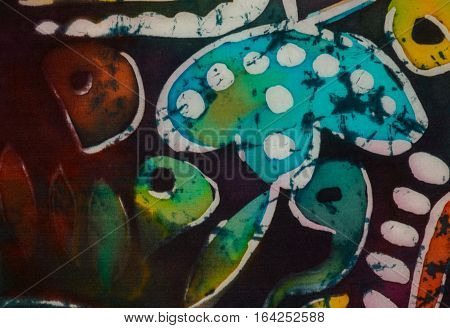 Tadpoles, Fragment, Hot Batik, Background Texture
