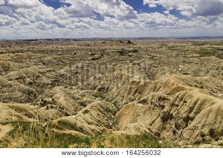 Badlands Landscape South Dakota, Badlands National Park